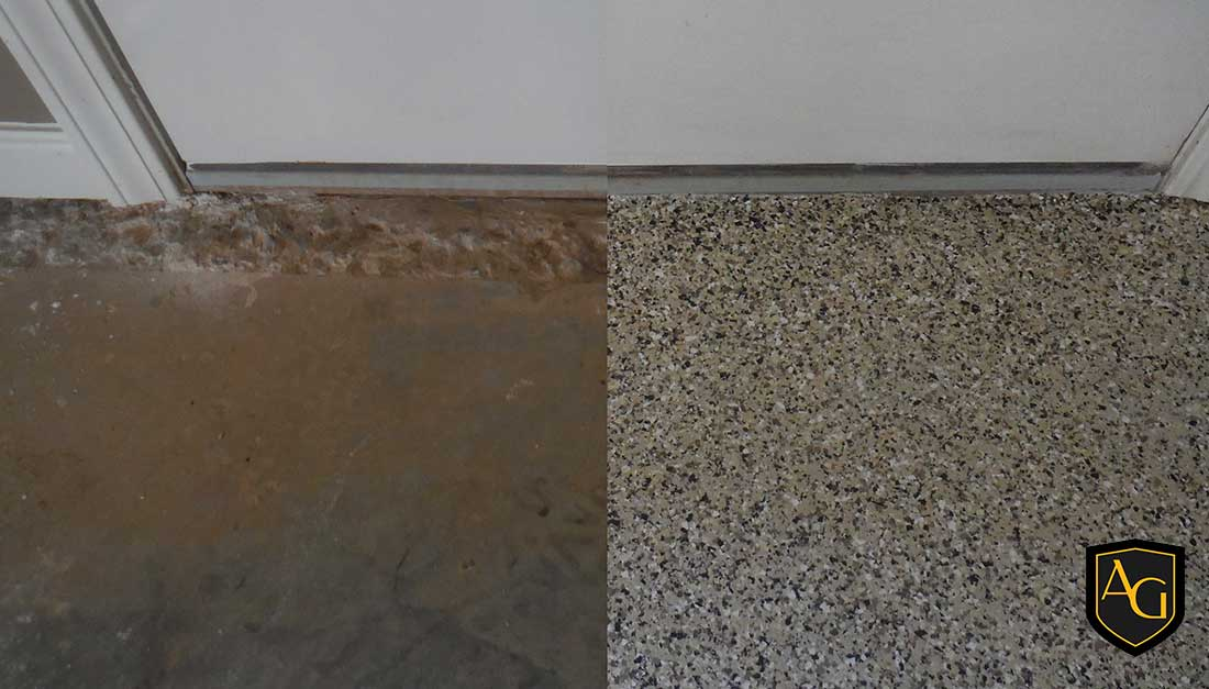Garage Concrete Repair With Epoxy